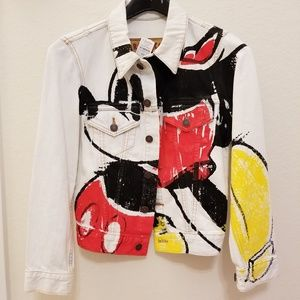 Marc Jacobs Mickey-Print Button-Down Denim Jacket